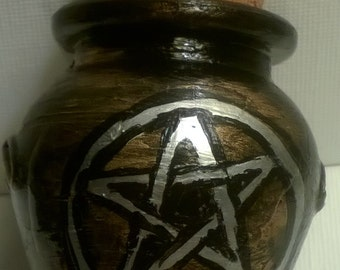 Gold Pentacle Hematite Jar