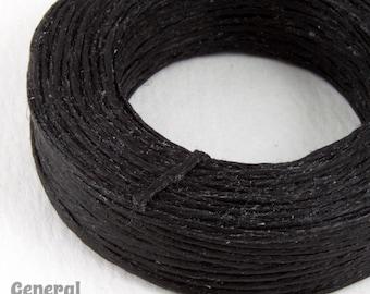 Black Waxed Linen Cord #CDQ004