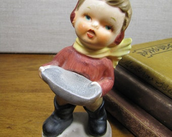 Porcelain Figurine - Small Boy - I'll Sing You A Song
