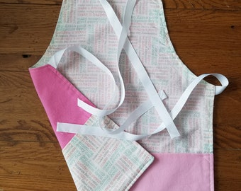 Child's bib apron, kitchen pretend play