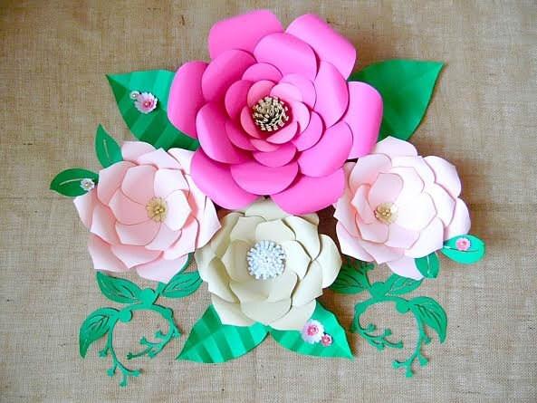 Paper flower templates diy giant paper flowers diy flower zoom mightylinksfo