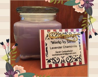 LAVENDER CHAMOMILE 10-oz. soy candle