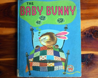 The Baby Bunny/Wonder Books with Washable Covers/Alf Evers/Bea Rabin Seiden/book crafts/children's book pages for art and craft/hardcover