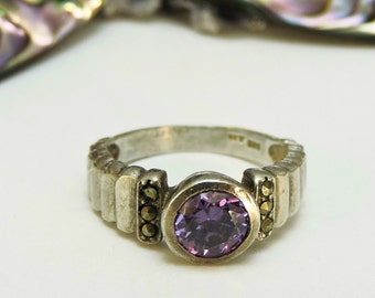 Sterling Silver Ring Amethyst /Size 5.5
