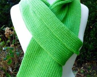 Lime Green Knit Scarf