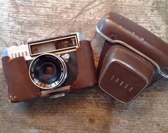 Vintage Taron Unique Camera Lense Leather Case