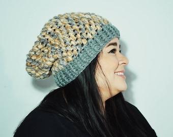 Puffy Slouch Crochet Beanie