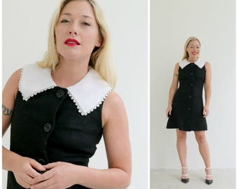 1960s Stacy Ames Contrast Dress // Size Extra Small