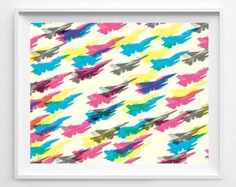 F 16 Fighter Jet - F16 poster - F16 Art - Plane - Fighter Jet - Jet Poster - Jet Art - Air Force - Air Force Art - Military - Military Art
