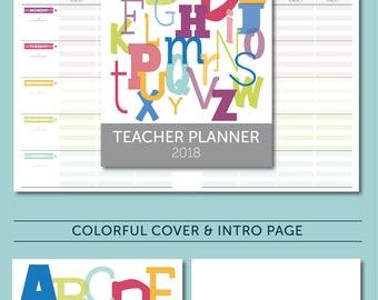 2018 Teacher Planner - January 2018-December 2018, Lesson Planner, Calendar, Teaching, Australia