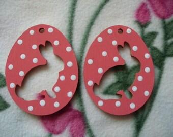 2 Easter egg pendant