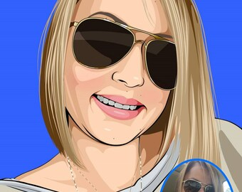 Personalised Pop Art Portrait / Illustration - Hand Drawn from your Favourite Photos and Pictures