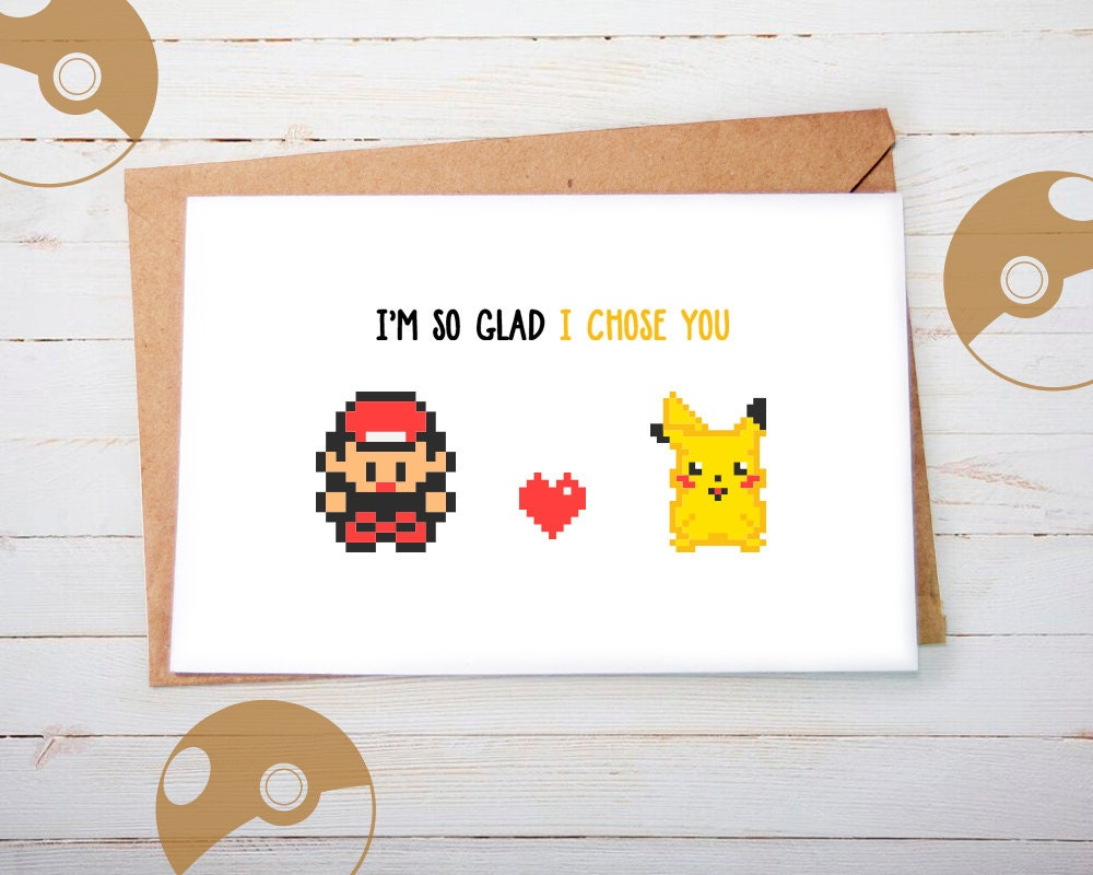 Valentines Day Card Pokemon Valentine Card Valentine Card