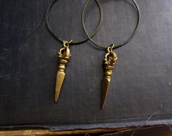 Tibetan Earrings,Tribal Earrings,Tribal Hoop Earrings,Buddhist Jewelry,Tibetan Hoop Earrings,Dangle Hoops,Tibetan Jewelry Boho,Nepal Jewelry