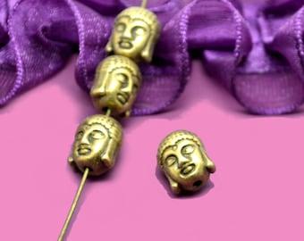 11x09mm bronze Buddha beads