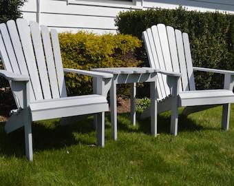Set Of Adirondack Furniture, Adirondack Chairs And Table, Patio Furniture  Set, Adirondack Set