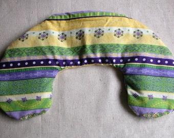 Flaxseed Eye and Jaw Pillow - Microwavable - Flax seed pillows - Purple Green and Yellow - Sale