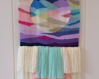 Bella woven wall hanging, boho wall tapestry, wall art