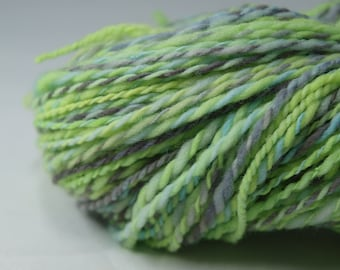 200 yards lime green handspun yarn, 4 oz.