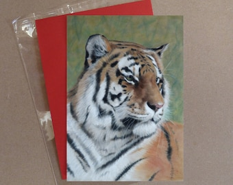 "Tiger (3) card 5 x 7"" with envelope"