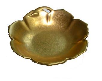 Vintage Gold Gilded Ring Dish Gold Ring Dish Gold Porcelain Ring Dish Ring Bearer Dish Wedding Ring Dish
