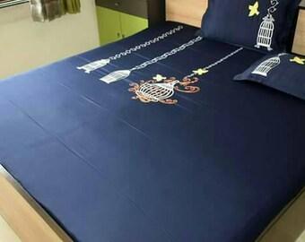 Handmade Embroidery Bedsheet Design