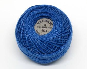 Valdani Pearl Cotton Thread Size 8 Solid: #104 Deep Sapphire