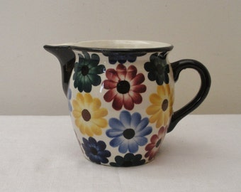 Vintage Daisy Flowered Pitcher - Made in Germany