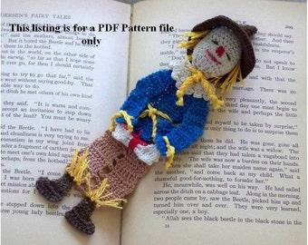 scarecrow of oz crochet pattern PDF file, thread crochet instructions, wizard of oz bookmark, decoration DIY, shadow box art diy, home decor