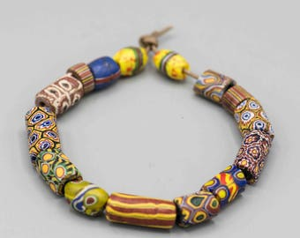 """African Trade Bead Mixed 8"""" Strand with 15 Beads"""