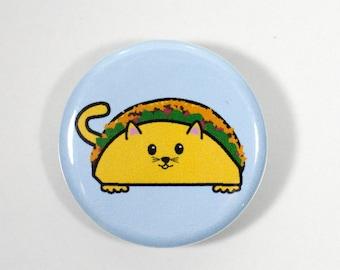 Taco Cat Pinback Button – Taco Cat Button – 1.25 inch Button –  Taco Party – Cat Party Favors