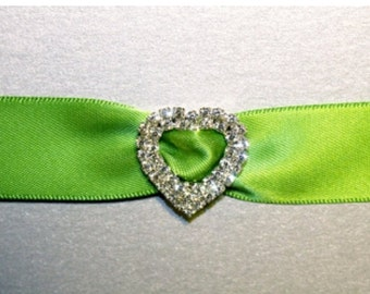24MM HEART RHINESTONE