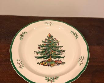 FREE SHIPPING-Spode-Christmas Tree-Round Chop Platter