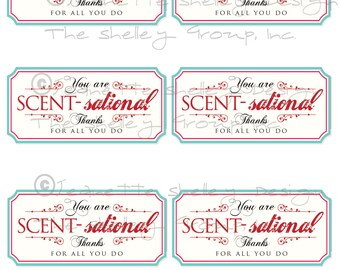 "instant download... Printable Appreciation ""You Are Scent-sational"" Gift Tags"