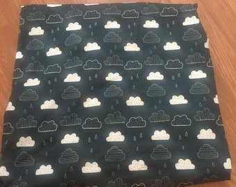 Organic clouds cotton jersey fabric
