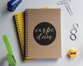 Carpe diem -   5 x 7 journal