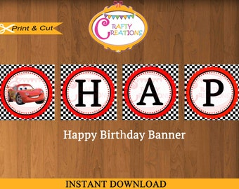 Disney cars birthday Etsy