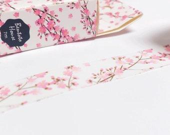 Pink Sakura Japanese Washi Tape Deco Tape - 15mm X 7 metres