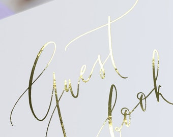 Gold FOIL Guest Book Sign - Modern Calligraphy style