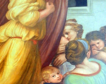 Vatican Fine Art Photography - Women and Children -  Photograph of Painting in the Vatican Museum Rome Italy - Home Wall Decor - Italian Art