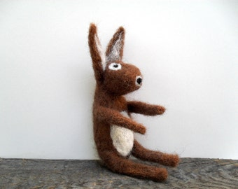 Rabbit needle felted animal