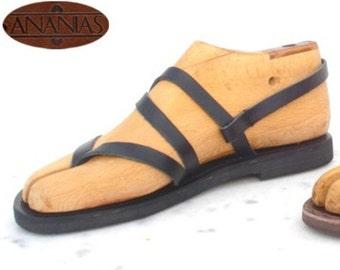 ANANIAS griechische Sandalen römische Grecian handgemachte Ledersandalen aaa4448a38