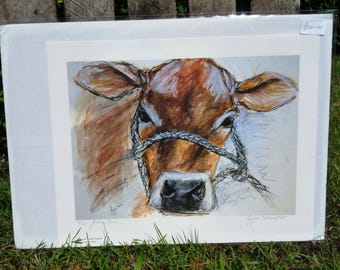 Jersey Cow Giclee Print