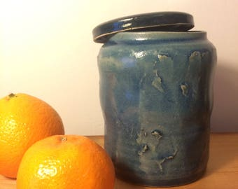 Handmade Blue Jar