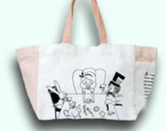 Alice in Wonderland Mini Tote Bag