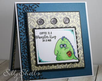 Coffee Monster Handmade Card