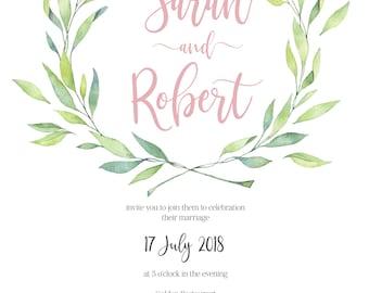 wedding invitations, wedding invitation sets, wedding stationery, beach wedding invitations, floral wedding invitations, wedding invites