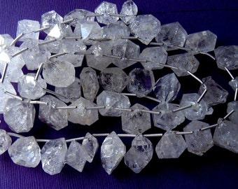 Moss Sparkling Herkimer Diamond Quartz Large Focal Stones