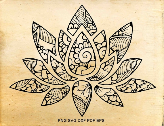 Lotus flower svg namaste zentangle svg zentangle flower yoga svg lotus flower svg namaste zentangle svg zentangle flower yoga svg iron on designs cut files for cricut files for silhouette cameo from vectorbunny on mightylinksfo