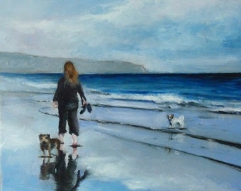 A Whitby walk (Original Oil Painting)
